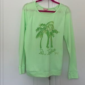 Lilly Pulitzer Palm Tree Long Sleeve Shirt